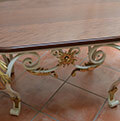 classic wrought iron table