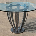 modern wrought iron table