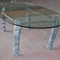 iron and glass office table